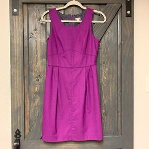 J. Crew purple wool dress size 6 lined